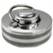 Antspaudas metalinis su mygtuku 30 mm diametro