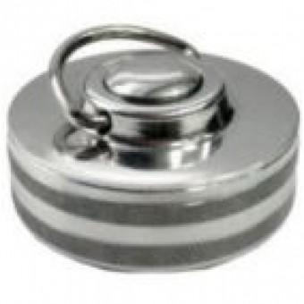 Antspaudas metalinis su mygtuku 40 mm diametro